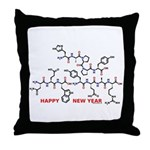 Happy New Year molecule Throw Pillow