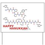 Happy Hanukkah molecule Yard Sign