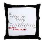 Happy Hanukkah molecule Throw Pillow
