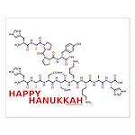 Happy Hanukkah molecule Small Poster