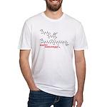 Happy Hanukkah molecule Fitted T-Shirt