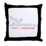 Happy Thanksgiving molecule Throw Pillow