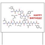 Happy Birthday molecule Yard Sign