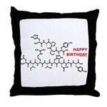 Happy Birthday molecule Throw Pillow