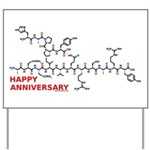 Happy Anniversary molecule Yard Sign