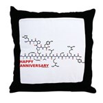 Happy Anniversary molecule Throw Pillow