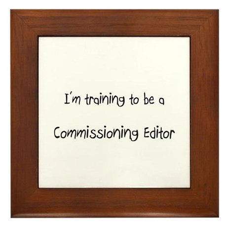 I'm training to be a Commissioning Editor Framed T