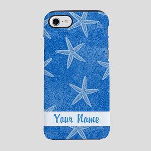 PERSONALIZED Starfish Pattern Blue iPhone 7 Tough