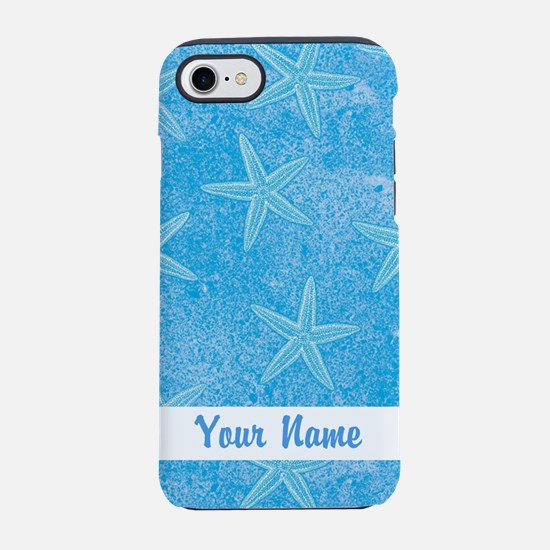 PERSONALIZED Starfish Pattern Blue iPhone 7 Tough