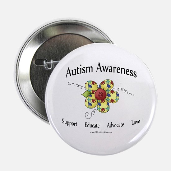 "Autism Awareness (flower) 2.25"" Button"