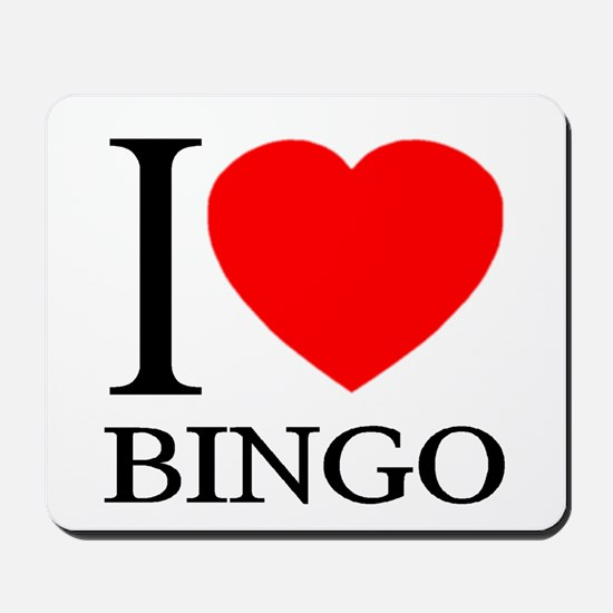 I (Heart) BINGO Mousepad