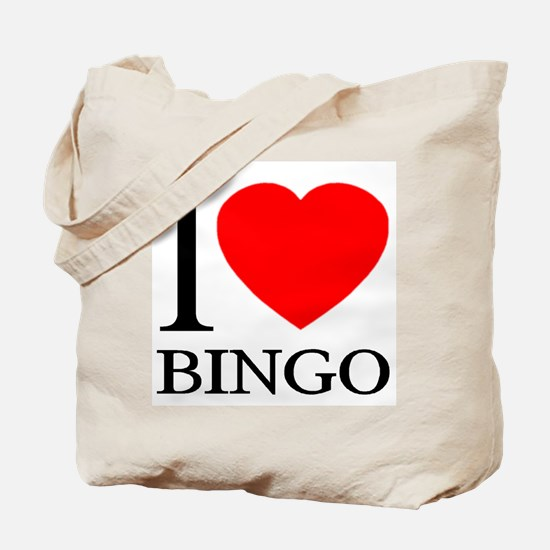 I (Heart) BINGO Tote Bag