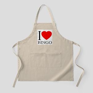 I (Heart) BINGO BBQ Apron