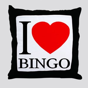 I (Heart) BINGO Throw Pillow