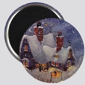 "Vintage Christmas North Pole 2.25"" Magnet (10 pack"