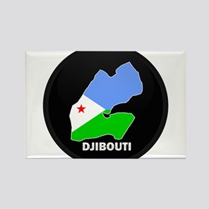 Flag Map of Djiboutian Island Rectangle Magnet