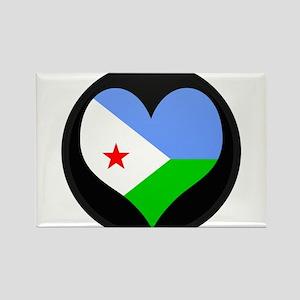 I love Djiboutian Islands Fla Rectangle Magnet