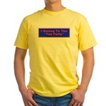 Tea Party Yellow T-Shirt