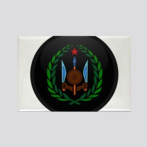 Coat of Arms of Djiboutian Is Rectangle Magnet