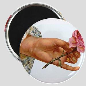 Vintage Rose in Hand Magnets