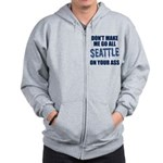 Seattle Football Zip Hoodie