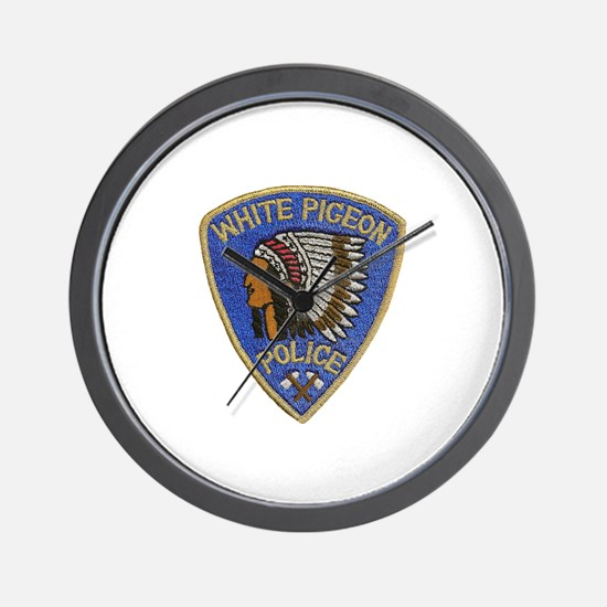 White Pigeon Police Wall Clock