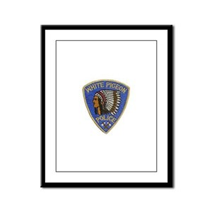 White Pigeon Police Framed Panel Print
