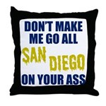 San Diego Football Throw Pillow
