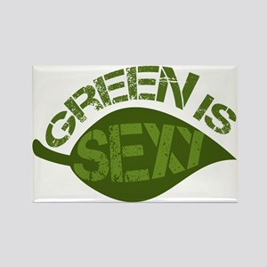 Green is Sexy Rectangle Magnet