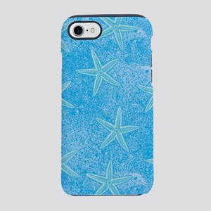 Blue Starfish Pattern iPhone 7 Tough Case