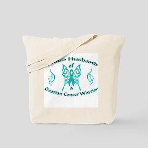 Proud Ovarian Tribal Husband Tote Bag