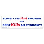Debt Kills! Bumper Sticker (10 pk)
