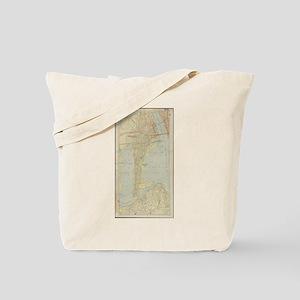 Vintage Map of Bayonne NJ (1912) Tote Bag