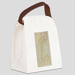 Vintage Map of Bayonne NJ (1912) Canvas Lunch Bag