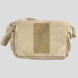 Vintage Map of Bayonne NJ (1912) Messenger Bag
