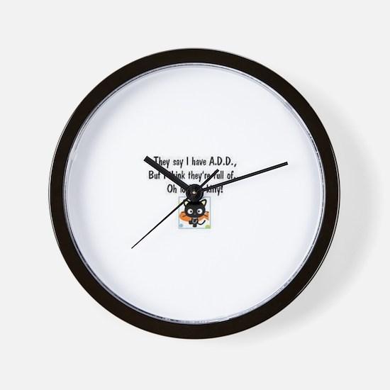Unique A.d.d Wall Clock