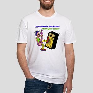 """I'm a Freakin' Rockstar ..."" Fitted T-Shirt"