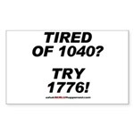 1040-1776 Rectangle Sticker 50 pk)