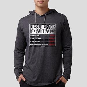 Diesel Mechanic Repair Rates Long Sleeve T-Shirt