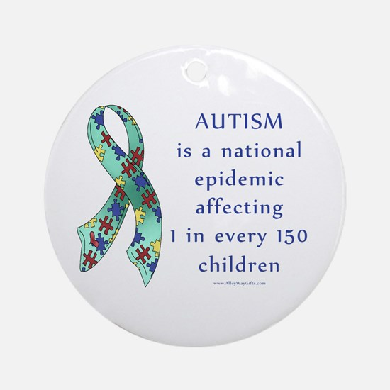 Autism Epidemic Ornament (Round)