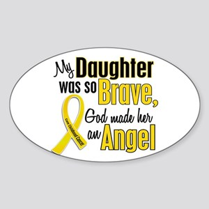 Angel 1 DAUGHTER Child Cancer Oval Sticker