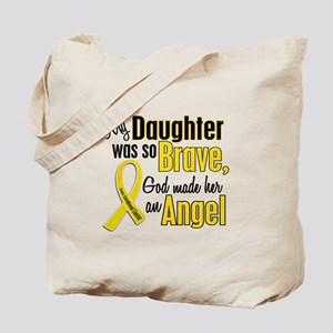 Angel 1 DAUGHTER Child Cancer Tote Bag