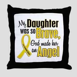 Angel 1 DAUGHTER Child Cancer Throw Pillow