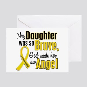 Angel 1 DAUGHTER Child Cancer Greeting Card