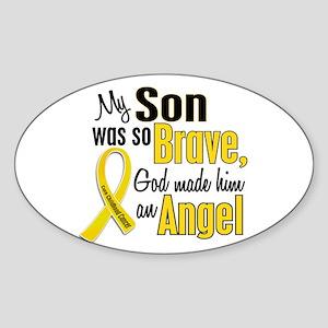 Angel 1 SON Child Cancer Oval Sticker