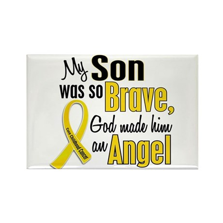 Angel 1 SON Child Cancer Rectangle Magnet (10 pack