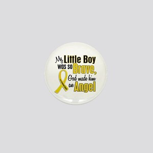 Angel 1 LITTLE BOY Child Cancer Mini Button