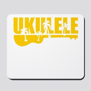 hawiian ukulele palm tree design Mousepad