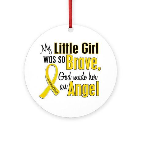 Angel 1 LITTLE GIRL Child Cancer Ornament (Round)