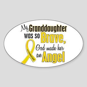 Angel 1 GRANDDAUGHTER Child Cancer Oval Sticker